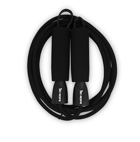 Black skipping rope for crossfit