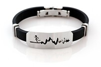 Lisa Tamati Stainless Steel and Rubber Bracelet