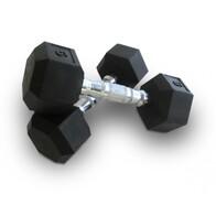 Bodyworx Commercial Rubber Hex Dumbbells | Free Freight